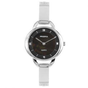 Prisma Dames Simplicity Oval Black horloge P1466