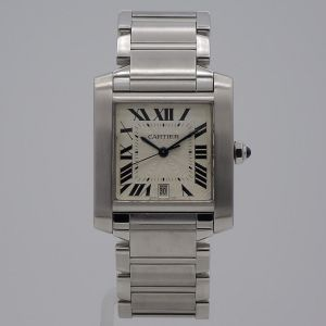 Cartier Tank Francaise staal-11