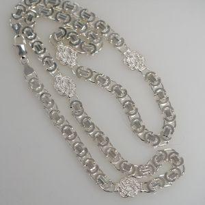 Mattenklopper ketting zilver