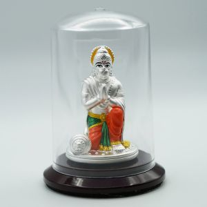 Hanuman-silver-murti-color