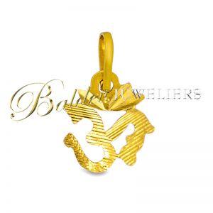 Ohm hangers 22kt goud-12