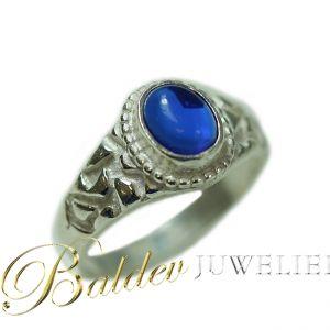 Piet-piet-ring-zilver-blauwesteen-rond