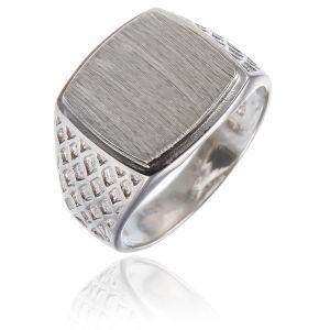 Surinaamse holle zilver cachet ring kussen vorm