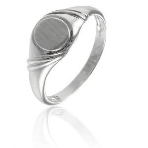 Surinaamse holle zilver kinder cachet ring plat ovaal