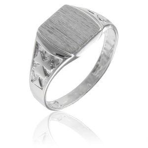 Surinaamse holle zilver kinder cachet ring