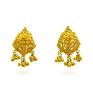 Gouden oorknoppen Vanshika