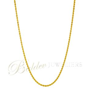 Ketting 22kt rope chain Sahil