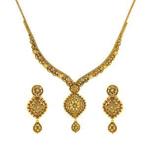 Gouden Indiase Collier Set Ishani