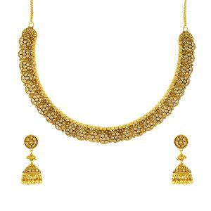 Gouden Indiase Collier Set Artha