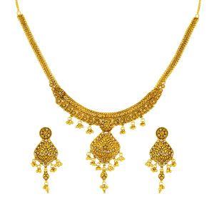 Gouden Indiase Collier Set Devi