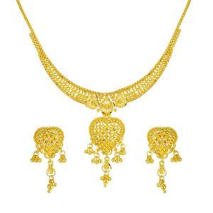 Gouden Indiase Collier Set Shalena