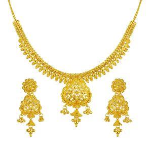 Gouden Indiase Collier Set Angee