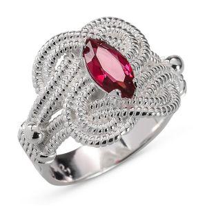 Heren ring Zilver Carl Mattenklopper rood medium