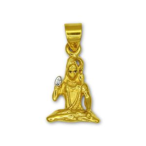 Gouden hanger Shiva