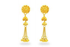 Gouden oorknoppen Nira