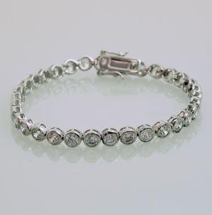 Zilveren Tennis Armband