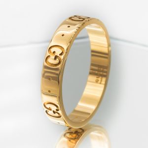 Gucci Ikon Thin Band Ring 19