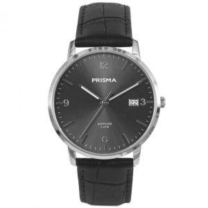 Prisma P1646 Sun Ray Slimline Horloge Zwart