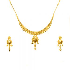Gouden Indiase set Bishti