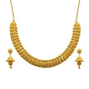 Gouden Indiase Collar Set Vanshika