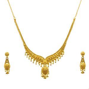 Gouden Indiase Set Kanishka