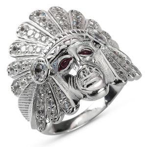 Heren Ring Zilver Sidney Indianen large