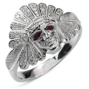 Heren Ring Zilver Sidney Indianen small