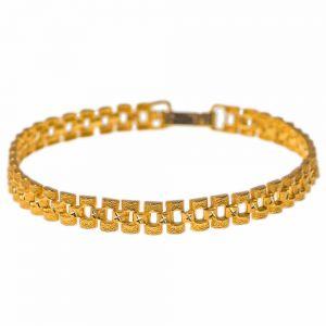Surinaamse Rolex schakel armband flexibel 18 karaat goud 20,5 cm lang
