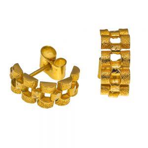 Surinaamse Rolex schakel oorbellen oorstekers 18 karaat goud 1,5 cm