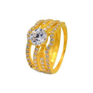 Engagement double ring Aadvika