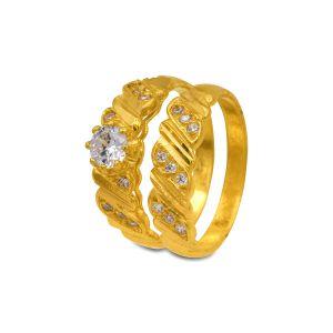 Engagement double ring Jisha