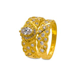 Engagement double ring Ira