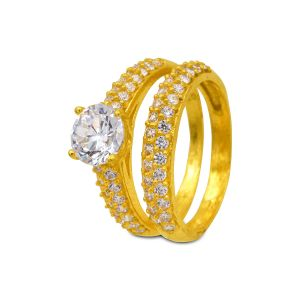 Engagement double ring Anika