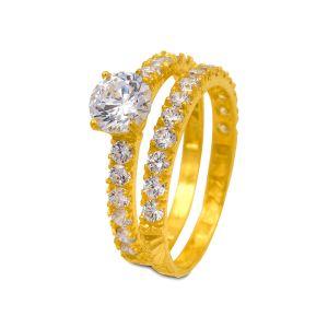 Engagement double ring Amaya