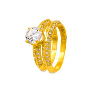 Engagement double ring Aarna