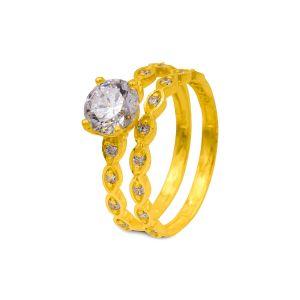 Engagement double ring Miraya