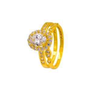 Engagement double ring Saisha