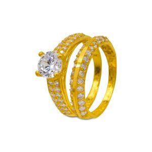Engagement double ring Takshvi