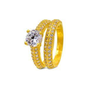 Engagement double ring Arika