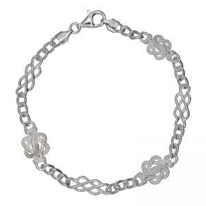 Mattenklopper armband zilver