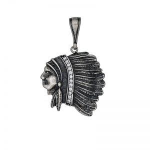 Indianen hanger zilver